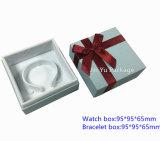 Белая коробка ювелирных изделий подарка бумаги картона для браслета