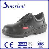 Sapatas de segurança de trabalho de couro lisas RS6169