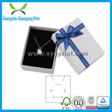 Elegante Custom Balck Color Paper Jewelry Necklace Box com Logotipo