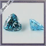 Steen van uitstekende kwaliteit van de Gemmen van het Zirconiumdioxyde van de Vorm van het Hart de Synthetische voor Juwelen