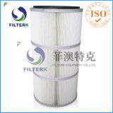 Cartuccia pieghettata lavabile di filtro dell'aria del collettore di polveri del poliestere