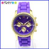 형식 숙녀 OEM/ODM MK 실리콘 다이아몬드 시계