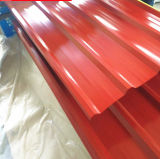 Aufbauende gewölbte Metalldach-außenpanels mit Tarnung/hellem Rot/Seeblau