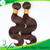 卸売100%加工されていないRemyの人間の毛髪の拡張バージンのブラジル人の毛