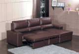 Het meubilair Uitgebreide Bed van de Bank van het Leer (712#)