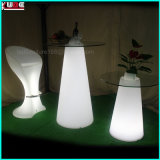 LED che illumina la mobilia del PE illuminata mobilia esterna di Polyethelene LED