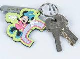Fördernde Geschenk-Gummischlüsselkette/Zoll Kurbelgehäuse-Belüftung Keychain/Plastiksilikon Keychain