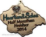 Soft fait sur commande Enamel Marathon Running Medal avec Plain Ribbon