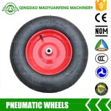 """roda resistente do Wheelbarrow de 16 """" Qingdao com as bordas do plástico do metal"""