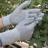 PU tauchte Sicherheits-Arbeits-Handschuh der Schnitt-beständigen Handschuh-Stufen-3 ein
