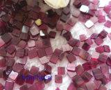 宝石類の部分自然なガーネット正方形のビード