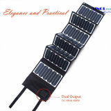 High Effi. 23.5% Sunpower Painel solar dobrável 60W Double Output 15V / 5vportable Carregador solar para laptop Tablet PC Bateria de carro Celulares (FSC-60A)