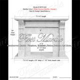 Marmeren Rand mfp-644 van de Open haard van Carrara van het Graniet van de Steen Witte
