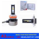 45W LED 자동 램프 9005 자동차 점화를 위한 9006대의 차 LED 헤드라이트