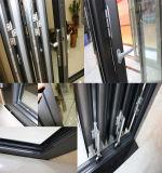 Portas de dobramento do pátio do vidro comercial Unbreakable com frame de alumínio