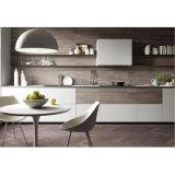 Leistungsfähiger weißer Lack-und Holz-Korn-Melamin-Küche-Schrank
