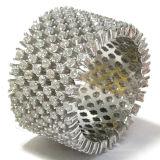 広州の工場価格のための3A白人CZの925純銀製のリング