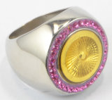 Anello di pezzo fuso di supporto della lega di alta qualità del commercio all'ingrosso dell'anello dell'acciaio inossidabile di OEM/ODM per l'uomo
