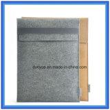 Ein stellte kundenspezifischen Wolle-Filz-Laptop-Aktenkoffer-Beutel mit Riss-Widerstand Du Pont/Tyvek Papierbeutel-Verpackung ein (Wolleinhalt ist 70%)