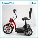 Smartek продает самокат оптом способа Escooter удобоподвижности колес неработающего самоката электрический 3 электрическими выведенный из строя трициклами для напольного Eac-500-3