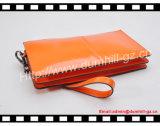 Померанцовая повелительница Бумажник с планкой ручки, повелительница Бумажник PU кожаный конструкции способа с кожей