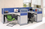 Poste de travail de bureau combiné par modèle classique avec la partition élevée