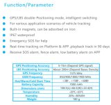 À piles, aucuns fils, faciles à se cacher, batterie rechargeable durable Gpt26