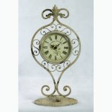 Orologio speciale dello scrittorio del metallo dell'oggetto d'antiquariato di disegno per la decorazione domestica