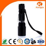 Zoomable 800 mini Taschenlampe der Lumen-Taschenlampen-LED der Aluminiumlegierung-18650
