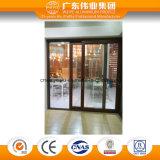 Puerta plegable y deslizante del material de aluminio