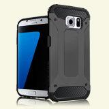 Cas en bloc de téléphone cellulaire avec la couverture duelle de couche pour la galaxie S7 S7edge de Samsung