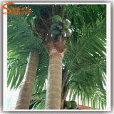 Arbre de noix de coco artificiel à feuilles persistantes pour la décoration à la maison