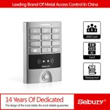 Telclado numérico independiente de dos puertas impermeable del control de acceso del metal