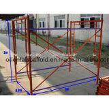 Bâti d'échafaudage de maçon de construction