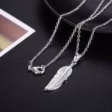 925 de zilveren Halsband van de Vrouwen van de Tegenhanger van de Vorm van het Blad