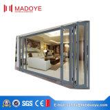 Portello materiale di vetro di alluminio piegante della stoffa per tendine di stile aperto