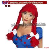 Regalo di promozione di compleanno della novità del Rainbow della parrucca del pagliaccio di POM (C3025)