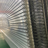 Perfil de alumínio industrial anodizado dos furos da prata 8