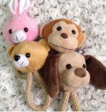 Coelho bonito, cão, macaco, brinquedo macio do animal de estimação do projeto do urso