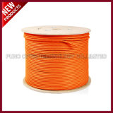 boisseau câble orange protégé et contrecarré de Cat7 de 1000FT de SFTP d'Ethernet en bloc solide de PVC