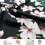 Tissu estampé de CDC de pêche (Creape De Chine) pour la robe ou les vêtements