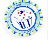 Placa de la fruta, placa de la comida campestre, placa del partido, placa de la torta