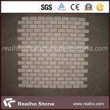 煉瓦パターンCararraの浴室の壁のための白い大理石のモザイク・タイル