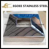 AISI304 / 316 Espejo / polaco de acero inoxidable Barandilla Mensaje cubierta de la base de la escalera