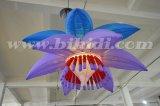 党装飾の巨大な結婚式の照明LED膨脹可能な花C2009