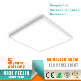 El panel montado superficie de la luz del panel del LED los 60*60/30*120/60*120cm LED