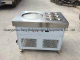 Haute performance une machine de roulis frite par plateaux ronds de crême glacée du carter 6