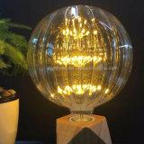 Ampoule à LED MTX A19 T45 ST64 G80 G95, verre ambré, ampoule à LED à 3 fils Dimmable Edison Spiral Filament, Super chaud 2200K, E26 Base E27, Ampoule maison décorative