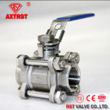 Roestvrij staal 3PC Threaded Ball Valve