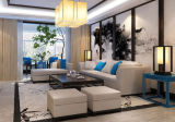 كلاسيكيّة فندق مطعم ردهة أثاث لازم خشبيّة بناء جلد أريكة